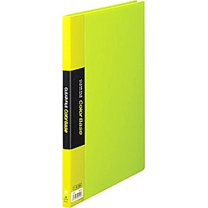 キングジムKINGJIMクリアーファイルカラーベース[A4タテ型・20ポケット](黄緑)132C[132Cキミ]