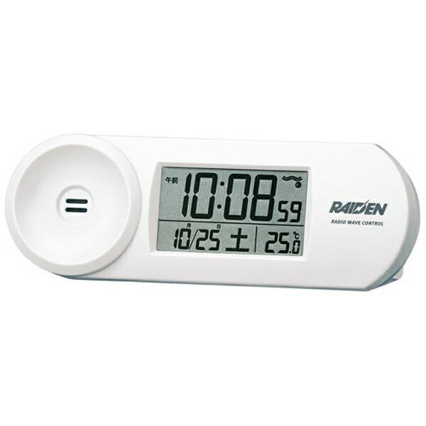 セイコーSEIKO目覚まし時計【RAIDEN(ライデン)】白パールNR532W[デジタル/電波自動受信機能有][目覚まし時計電波大音量デジタルNR532W]