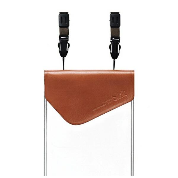 ROAロアスマートフォン用[5.7インチ]ファッション防水ポーチプレミアム(キャメル)[bikit]BK3802
