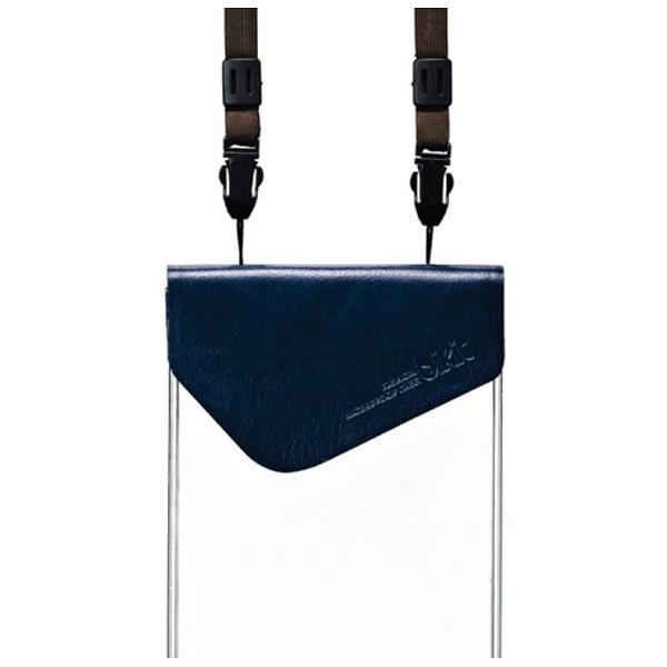 ROAロアスマートフォン用[5.7インチ]ファッション防水ポーチプレミアム(ネイビー)[bikit]BK3803