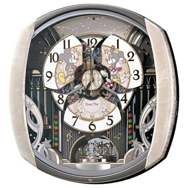 セイコーSEIKOからくり時計【DisneyTime(ディズニータイム)ミッキー&フレンズ】薄ピンクマーブル模様FW563A[電波自動受信機能有][FW563A]