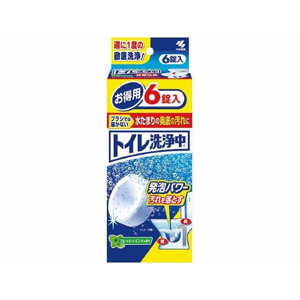 小林製薬Kobayashiトイレ洗浄中6錠〔トイレ用洗剤〕【rb_pcp】