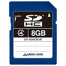 グリーンハウスGREENHOUSESDHCカードGH-SDHC*4FシリーズGH-SDHC8G4F[8GB/Class4][GHSDHC8G4F]