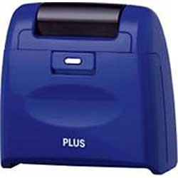 プラスPLUS個人情報保護スタンプローラーケシポンワイド(ブルー)IS-510CMBL[IS510CMBL]