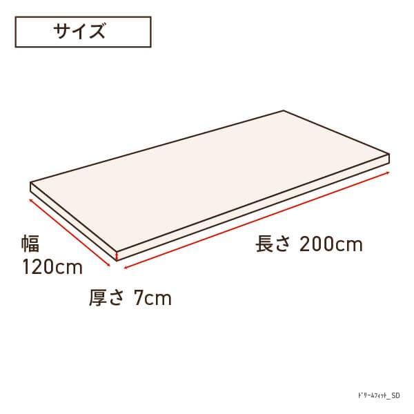 生毛工房UMOKOBOドリームフィットセミダブルサイズ(120×200×7cm)【日本製】