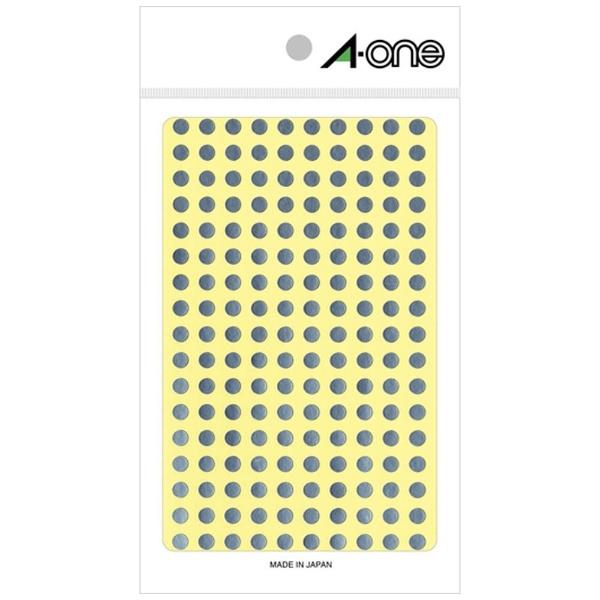 エーワンA-oneカラーラベル銀07072[6シート/180面/光沢]【aoneC2009】