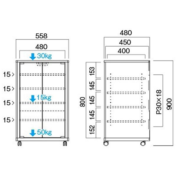 ハヤミ工産HayamiIndustryタテ型オーディオラックNX-B301[NXB301]