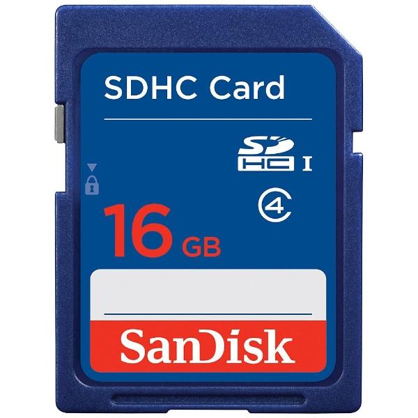 サンディスクSanDiskSDHCカードスタンダードシリーズSDSDB-016G-J35U[16GB/Class4][SDSDB016GJ35U]
