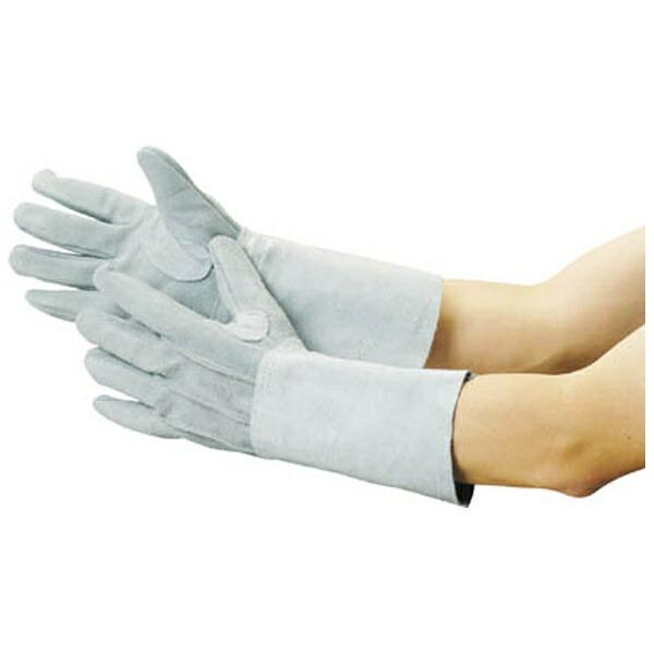 トラスコ中山牛床革手袋袖長タイプフリーサイズJT5L