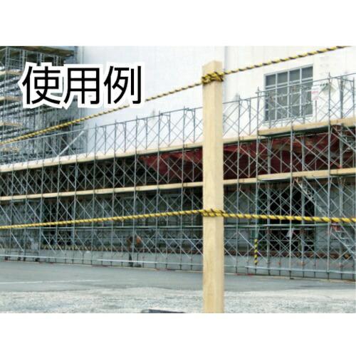 トラスコ中山標識ロープ3つ打線径7.5mmX長さ100mR9100T