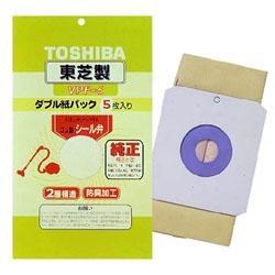 東芝TOSHIBA【掃除機用紙パック】(5枚入)防臭加工シール弁付きダブル紙パックVPF-6[VPF6]