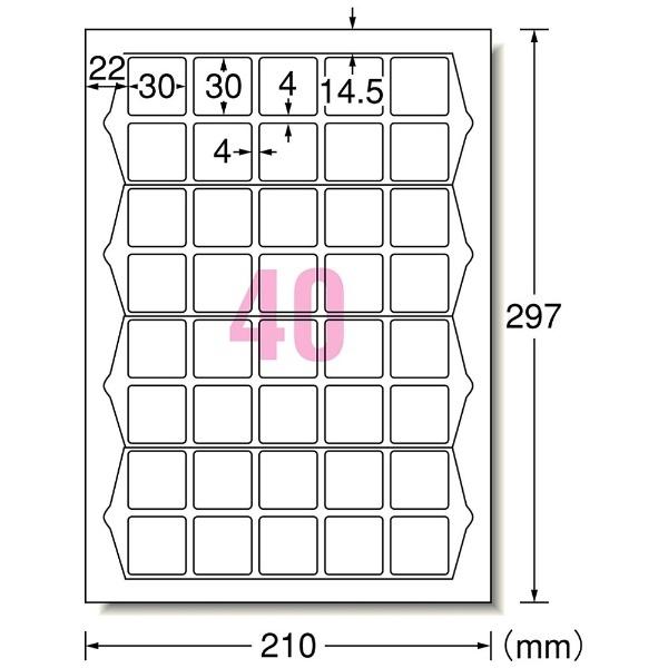 エーワンA-oneマルチプリンタラベルQRコード用ホワイト31553[A4/20シート/40面/マット]【rb_mmme】