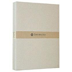 ナカバヤシNakabayashiバインダー式布クロスポケットアルバム「テラコッタ」(L判3段/ホワイト)TER-L3Y-140-W[TERL3Y140W]