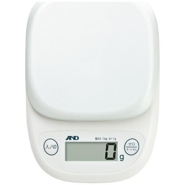 A&Dエー・アンド・デイデジタルスケール(1kg)UH-3301-Wホワイト[UH3301W]