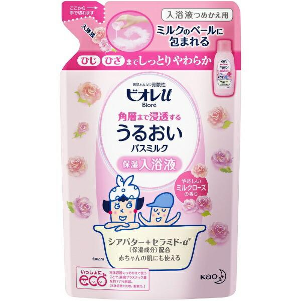 花王KaoBiore(ビオレ)ビオレuすべすべバスミルクミルクローズの香りつめかえ用(480ml)[入浴剤]