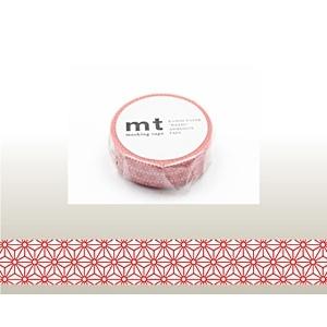 カモ井加工紙KAMOImtマスキングテープ(麻の葉・朱赤)MT01D215