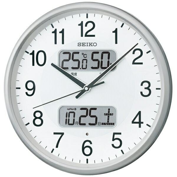 セイコーSEIKO掛け時計【スタンダード】銀色メタリックKX383S[電波自動受信機能有][KX383S]