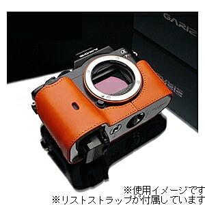 GARIZゲリズ本革カメラケース&リストストラップ【ソニーα7R/α7兼用】(オレンジ)XS-CHA7OR/XS-WBL8[生産完了品在庫限り][XSCHA7OR]