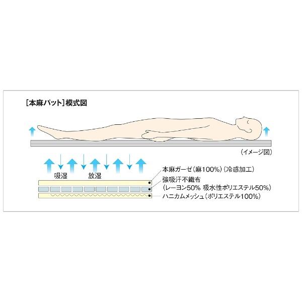オーシンOSHIN【涼感パッド】本麻パッドシングルロングサイズ(100×210cm)