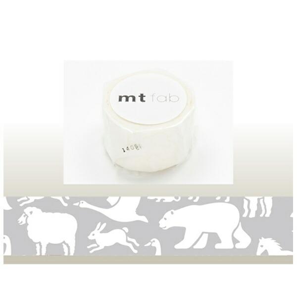 カモ井加工紙KAMOImtマスキングテープmtfabフロッキー(白い動物)MTFL1P04