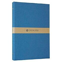 ナカバヤシNakabayashiバインダー式布クロスポケットアルバム「テラコッタ」(L判3段/ブルー)TER-L3Y-140-B[TERL3Y140B]