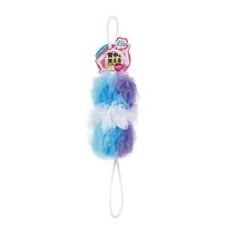 マーナMARNA背中も洗えるシャボンボールミックスブルー【rb_pcp】
