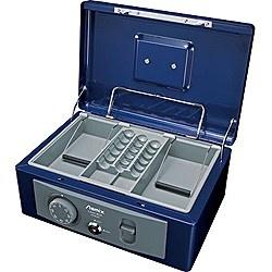 アスカASKAMCB580手提金庫B5サイズAsmix(アスミックス)ブルー[鍵式+ダイヤル式]