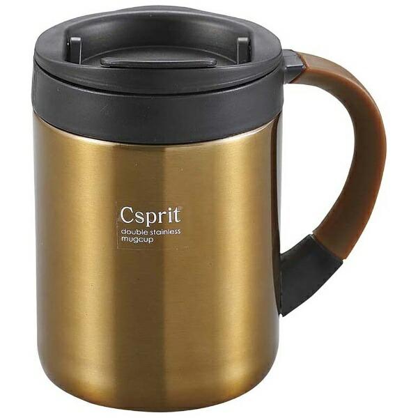 キャプテンスタッグCAPTAINSTAGシーエスプリダブルステンレスマグカップ280(ブラウン)M5369