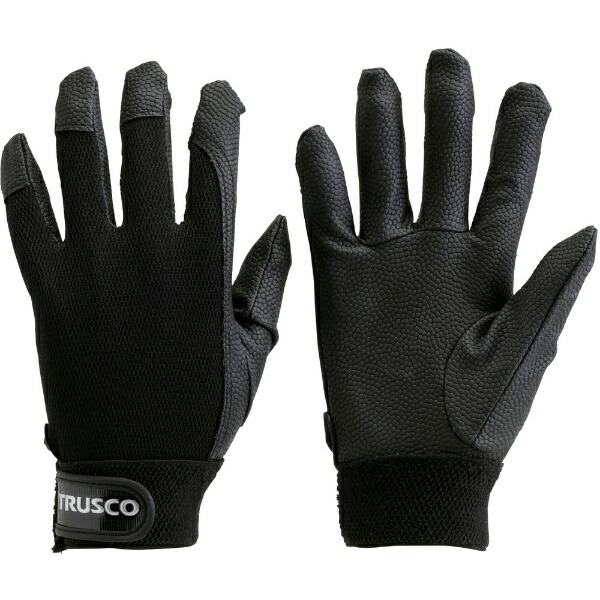 トラスコ中山PU厚手手袋LLサイズブラックTPUGBLL