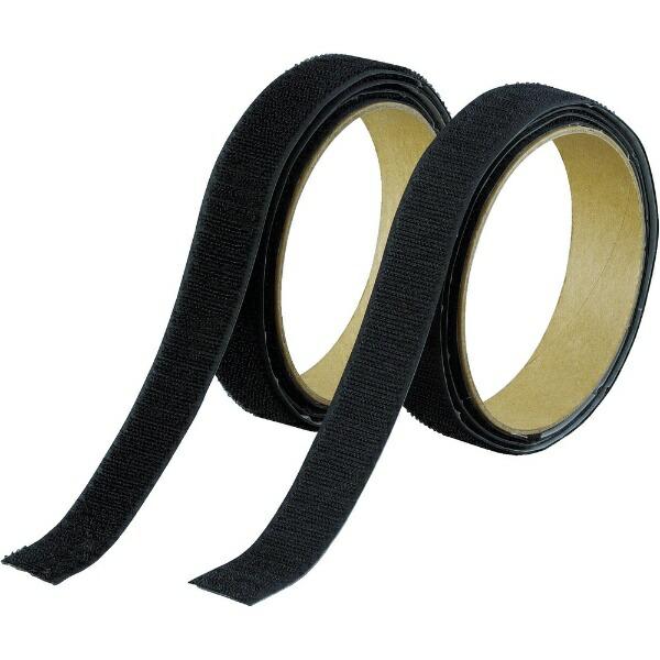 トラスコ中山マジックテープ強粘着幅25mmX長さ1m黒TMSD25BK[TMSD25BK]