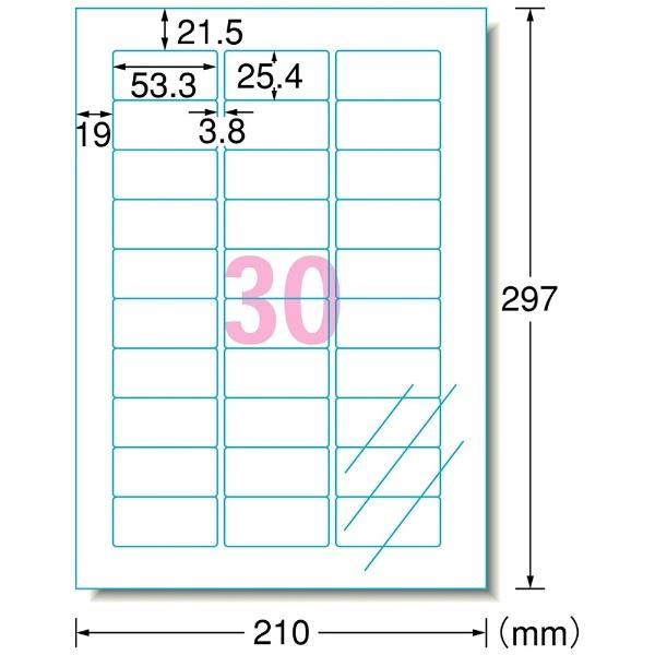エーワンA-oneインクジェットプリンタラベル透明28973[A4/10シート/30面/光沢]【rb_mmmh】