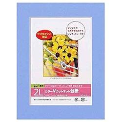 ナカバヤシNakabayashiVカットマット台紙Digio(2L/ブルー)DGVM-2L-B[DGVM2LB]