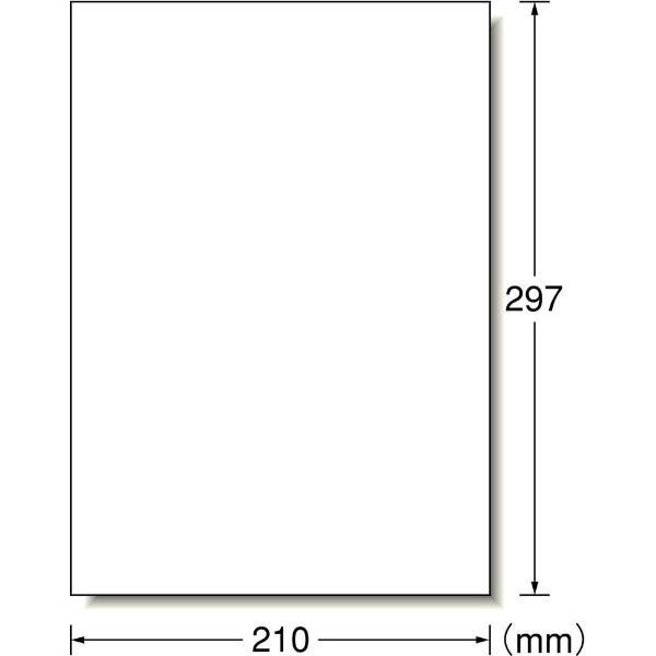 エーワンA-oneラベルシールプリンタ兼用ホワイト73301[A4/100シート/1面/マット][シール用紙]