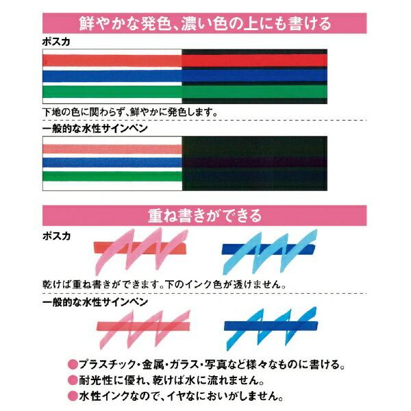 三菱鉛筆MITSUBISHIPENCIL[サインペン]ポスカ<水性顔料・極細>8色セットPC1M8C