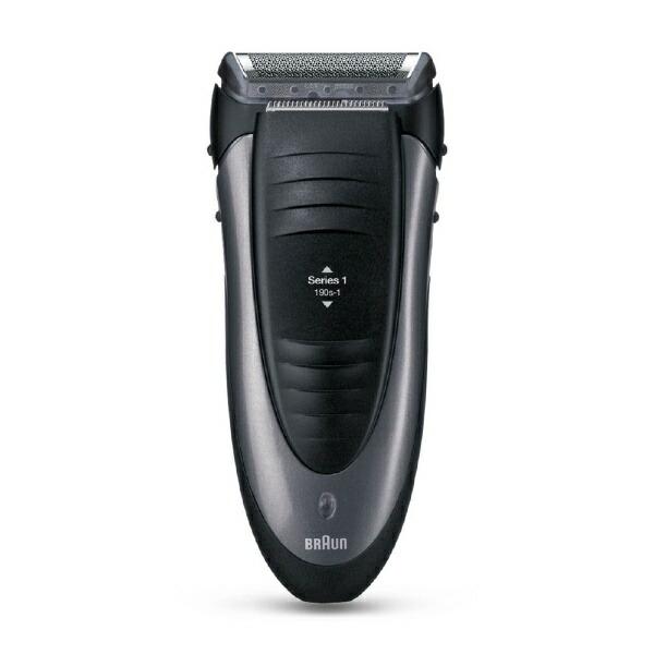 ブラウンBRAUN190S-1メンズシェーバーシリーズ1本体:ブラックヘッド:ブラック[1枚刃/国内・海外対応][電気シェーバー男性髭剃り190S1]