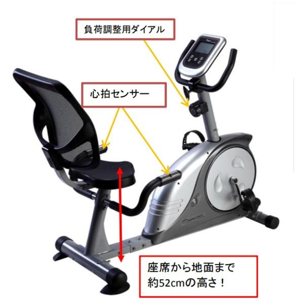 ダイコーDAIKOUリカベントバイク(グレー×シルバー)DK-8604R【適応身長:140cm〜185cm】【キャンセル・返品不可】【メーカー直送・代金引換不可・時間指定・返品不可】