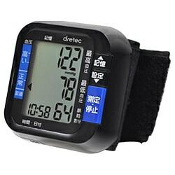 ドリテックdretecBM-100BK血圧計ブラック[手首式][BM100]
