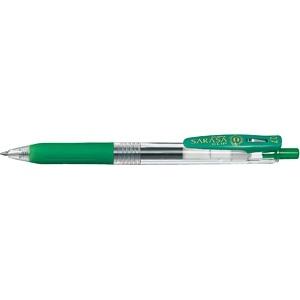 ゼブラZEBRA[ゲルインクボールペン]サラサクリップ0.7(ボール径:0.7mm、インク色:緑)JJB15-G[JJB15G]