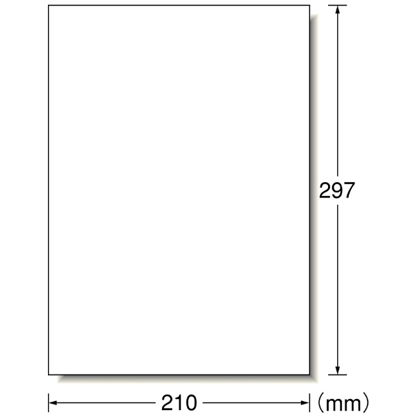 エーワンA-oneラベルシールプリンタ兼用ホワイト29280[A4/30シート/1面/光沢]【aoneC2009】