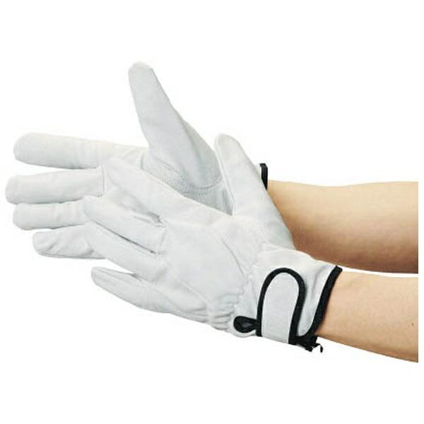トラスコ中山豚革裏地付マジック止手袋LLサイズTYK717LL