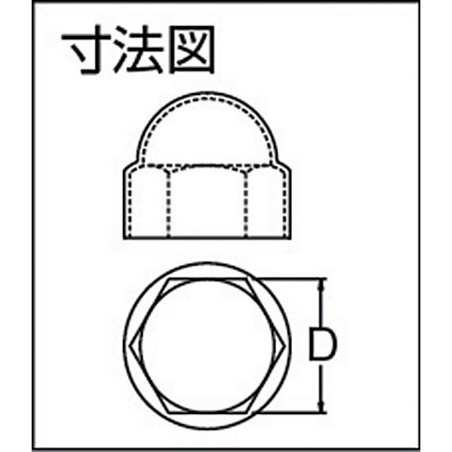 SDC田中SDCTanakaプロテクトパーツ「袋ナットキャップ」FC12725(1袋100個)