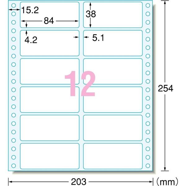 エーワンA-oneマルチラベル8×10インチコンピュータフォームラベル28040[1000シート/12面/マット]
