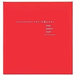 ナカバヤシNakabayashiフエルアルバム白フリー台紙20枚(Lサイズ/レッド)フォトレンジ20L-92-R[20L92R]