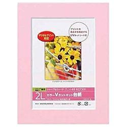 ナカバヤシNakabayashiVカットマット台紙Digio(2L/ピンク)DGVM-2L-P[DGVML2L]