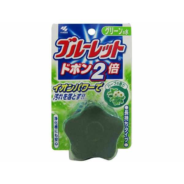 小林製薬Kobayashiブルーレットドボン2倍ハーブの香りグリーンの水〔トイレ用洗剤〕【wtnup】