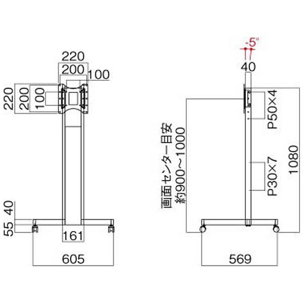 ハヤミ工産HayamiIndustry〜43V型対応ディスプレイスタンドTF-430B[TF430B]