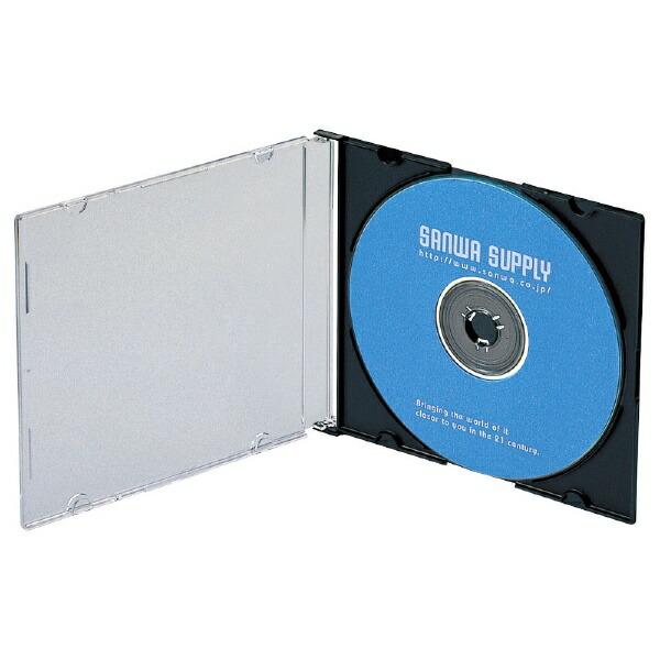 サンワサプライSANWASUPPLYBlu-ray/DVD/CD対応スリム収納ケース1枚収納×100マットブラックFCD-PU100MBK[FCDPU100MBK]
