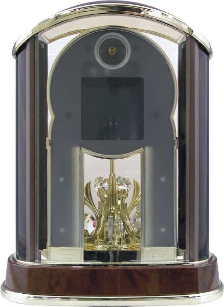 リズム時計RHYTHM置き時計【パルアモールR658N】茶4RY658-N23[電波自動受信機能有][4RY658N23]