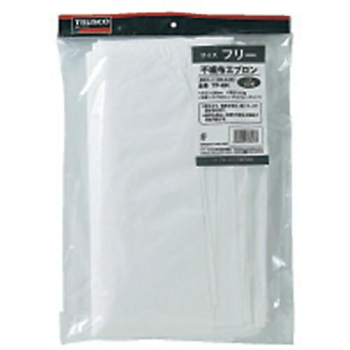 トラスコ中山不織布使い捨てエプロンTPMK(1袋10枚)