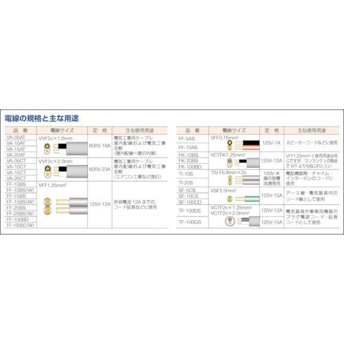 正和電工SeiwaDenko平行線VFFビニールコード10m白FF10BS